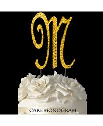w cake topper monogram cake toppers cake supplies baking supplies party