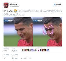 Moth Meme - rude moth attacks cristiano ronaldo in euro 2016 finale becomes