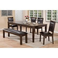 dining room table and bench crown mark lottie dining room set with upholstered bench wayside