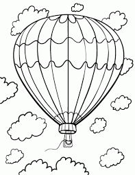 air balloon color page aecost net aecost net