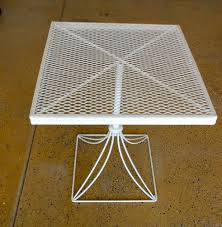 Wrought Iron Patio Side Table 16 Best Vintage Metal Porch Tables Images On Pinterest Vintage