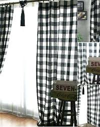 Plaid Curtain Material Zoom Black And White Checkered Curtains For Kitchen Black And