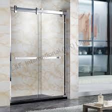 Frame Shower Door 304 Stainless Steel Frame Sliding Shower Door