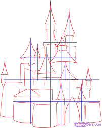 how to draw a medieval castle step by step buildings landmarks