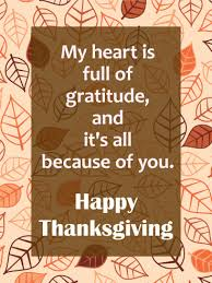 my is of gratitude happy thanksgiving card birthday