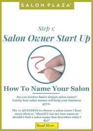 salon owner startup 1 how to name your salon