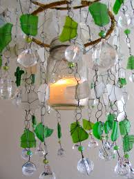 Ornament Chandelier Diy by Sea Glass Chandelier Ecospired