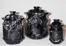 black marble kitchen canister set 3 pc set