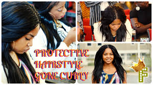 hair extensions for braiding pick and drop protective hairstyle curl on my pick n drop week 1 youtube
