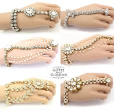 bracelet hand chain images Kundan stone indian bollywood asian hand panja bracelet hand piece jpg