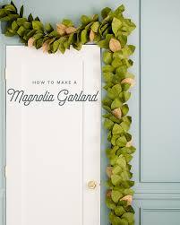 paper magnolia leaf garland the house that lars built