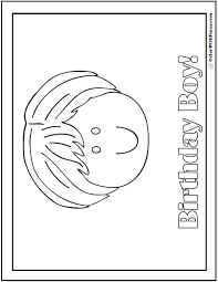 birthday coloring pages boy 55 birthday coloring pages customizable pdf
