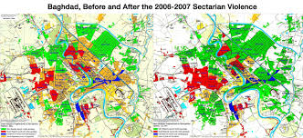 map of bagdad baghdad before after 2006 2007 sectarian violence brilliant maps