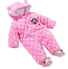 baby toddler velour winter jumpsuit front button 61 pink 0 3
