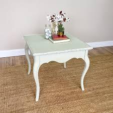 Vintage Living Room Side Tables Vintage End Table Green Side Table Distressed Furniture Sofa