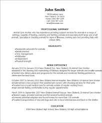 Resume Worker Resume Examples Animal Care Resume Ixiplay Free Resume Samples