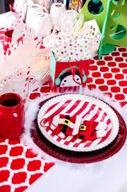 Christmas Table Settings Red U0026 White Christmas Table Setting For Kids
