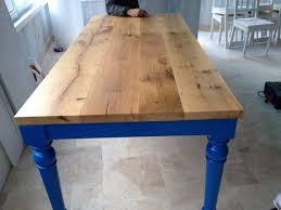oak wood table legs reclaimed oak wood dining table with handmade blue legs dining