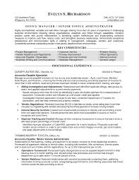resume template sample resume for administrative assistant office
