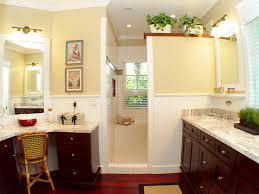 Chair Rail Ideas For Bathroom - corner shower stall bathroom tropical with dark wood cabinet chair