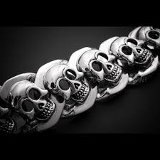 bracelet skull silver images Silver skull bracelets skull bangles unique high end mens jpg