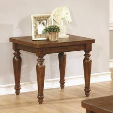 coffee table by coaster in rustic brown w optional tables