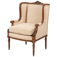 french carved mahogany antique wingback armchair 19th century at