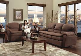 Loveseat Sets Chocolate Microfiber Modern Double Reclining Sofa U0026 Loveseat Set