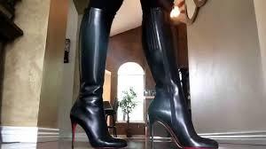 my new lovers fifi botta 100mm christian louboutin black leather