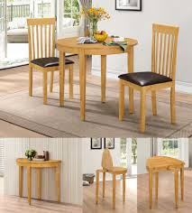 hgg dining table set with 2 chairs rubberwood furniture small
