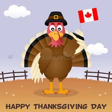 thanksgiving day turkey with canada flag stock vector illustration