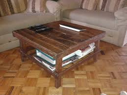 simple coffee table ideas furniture simple square brown wooden coffee table with shelves