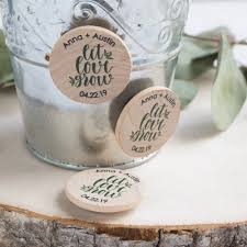 wedding magnets personalized wooden wedding magnets