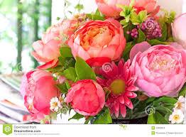Flowers Decoration At Home Flowers Bouquet Arrange For Decoration In Home Stock Photo Image