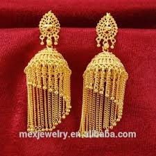 gold jhumka earrings jhumkas indian jhumki dangle gold earrings nepal tribal thailand
