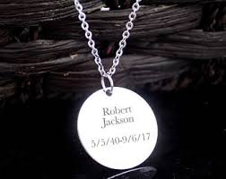 custom engraved pendant personalized pendant etsy