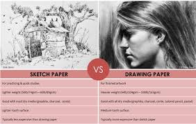what is the difference between sketch and drawing paper