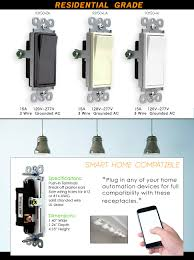 amazon com decorator rocker 3 way light switch by enerlites 93150