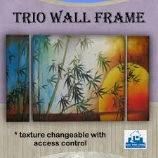 decorative artwork for homes second life marketplace trio framed art texture changeable