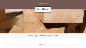 machinery supplier website templates godaddy