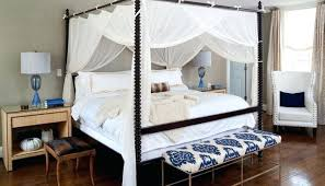 4 Post Bed Frame 4 Poster Bed Canopy White Bed
