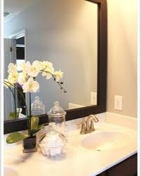 white framed mirrors for bathrooms framed bathroom mirror