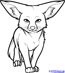 fox drawings clip art 40
