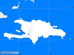 dominican republic and haiti outline map a learning family