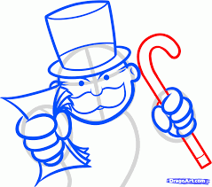 how to draw monopoly the monopoly guy step by step characters