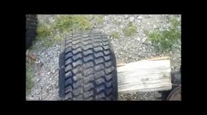 how to remove a seized rear mower wheels youtube