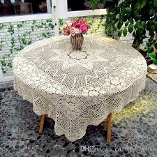 Crochet Table Cloth Crocheted Tablecloth 63 Inch Square For Round Table Crochet Table