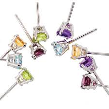 ear candy earrings ear candy gemstone stud earrings collection 5 pairs 30127