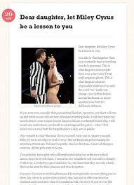 let miley cyrus be a lesson to you u0027 a mother u0027s open letter urging