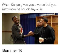 Kanye And Jay Z Meme - when kanye gives you averse but you ain t know he snuck jay z in